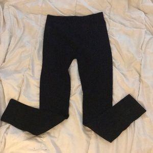 Aeropostale Classic Black Rib-Knit Leggings